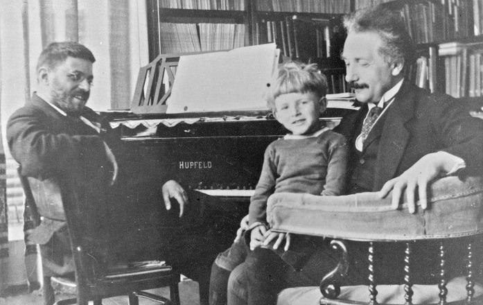 Einstein and son1
